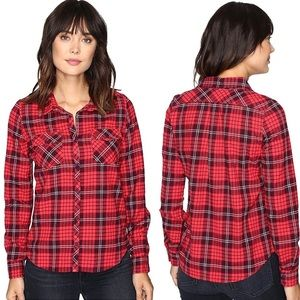 ROXY Plaid Button down shirt